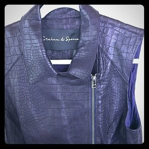 Graham and Spencer lambskin zipper vest
